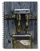 Ice Crystals On Wooden Gate Spiral Notebook