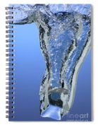 Ice Cube Dropped In Water Spiral Notebook