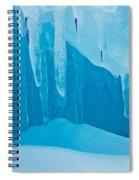 Ice Detail On Bruce Peninsula, Georgian Spiral Notebook