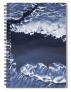 Ice Formations On Small Creek Spiral Notebook
