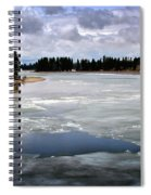 Ice On The Yellowstone River Spiral Notebook