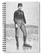 Ice Skater, 1880 Spiral Notebook