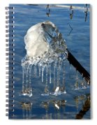 Icy Fence Post Spiral Notebook