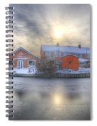Icy River Panorama Spiral Notebook