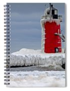 Icy South Haven Mi Lighthouse Spiral Notebook