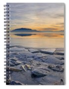 Icy Sunset On Utah Lake Spiral Notebook