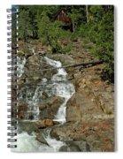 Icy Water Falls Glen Alpine Falls Spiral Notebook