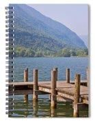 idyllic tarn in Italy Spiral Notebook