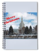 If Temple Christmsa Card 1 Spiral Notebook