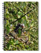 Iguana Hiding In The Bushes Spiral Notebook