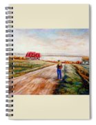 Ile D'orleans Road To The Red Gabled House Quebec Maritime Landscape Spiral Notebook
