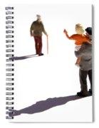 Illustration Of Elderlys Spiral Notebook