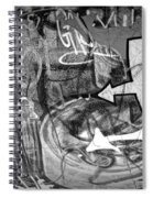 Image Of Graffiti In Edmonton Alberta Spiral Notebook