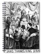 Immigration Cartoon, 1869 Spiral Notebook