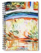 Impressions On Monet Painting Of Pond With Waterlilies  Spiral Notebook