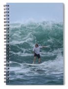 In The Center Of The Swell Spiral Notebook
