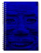 In Your Face In Blue Spiral Notebook