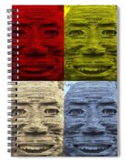 In Your Face In Colors Spiral Notebook