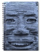 In Your Face In Cyan Spiral Notebook