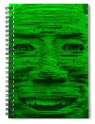 In Your Face In Green Spiral Notebook