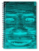 In Your Face In Neagtive Turquois Spiral Notebook