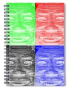 In Your Face In Negative Colors Spiral Notebook