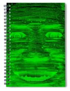 In Your Face In Negative Green Spiral Notebook