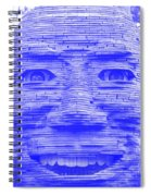 In Your Face In Negative Light Blue Spiral Notebook