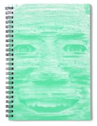 In Your Face In Negative Light Green Spiral Notebook