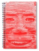 In Your Face In Negative Light Red Spiral Notebook