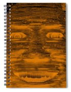 In Your Face In Negative Orange Spiral Notebook