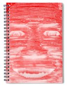 In Your Face In Negative Red Spiral Notebook