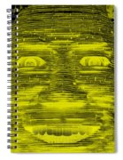 In Your Face In Negative Yellow Spiral Notebook