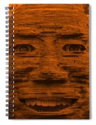 In Your Face In Orange Spiral Notebook