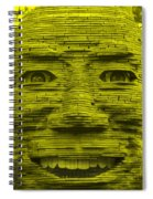 In Your Face In Yellow Spiral Notebook