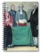 Inauguration Of George Washington, 1789 Spiral Notebook