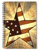 Independence Day Stary American Flag Spiral Notebook