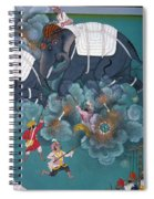 India: Elephant Fight Spiral Notebook