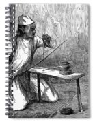 India: Pearl Borer, 1876 Spiral Notebook