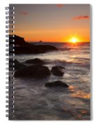 Indian Beach Sundown Spiral Notebook