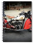 Indian Chief Motorcycle Rare Spiral Notebook