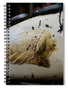 Indian Motocycle Gas Tank Spiral Notebook