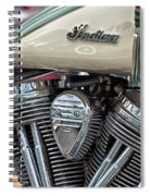Indian Motorcycle Engine Spiral Notebook