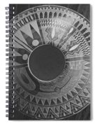 Indian Pottery In Black And White Spiral Notebook