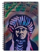 Indigenous Motto Earth Tones Spiral Notebook