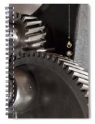 Industrial Gears Whith Oil Drops Spiral Notebook