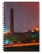 Industrial Lights Spiral Notebook