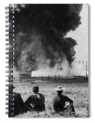 Industry: Oil Fire, C1902 Spiral Notebook