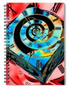 Infinity Time Cube Blue On Red Spiral Notebook