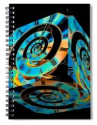 Infinity Time Cube On Black Spiral Notebook